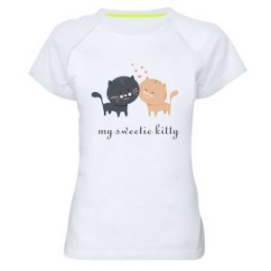 Women's sports t-shirt Cute cats