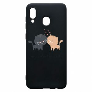 Samsung A30 Case Cute cats