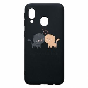 Samsung A40 Case Cute cats