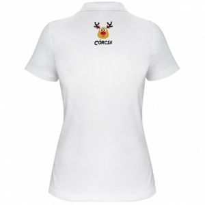 Koszulka polo damska Śliczny jeleń
