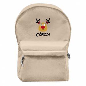 Plecak z przednią kieszenią Śliczny jeleń
