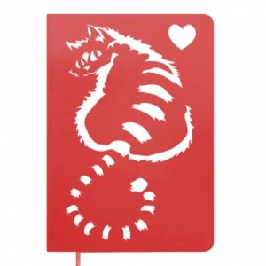 Notepad Cute cat with a heart
