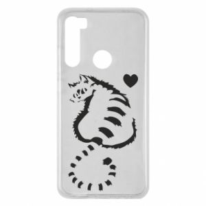 Xiaomi Redmi Note 8 Case Cute cat with a heart
