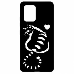 Samsung S10 Lite Case Cute cat with a heart