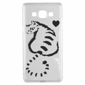 Samsung A5 2015 Case Cute cat with a heart