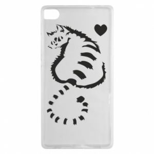 Huawei P8 Case Cute cat with a heart