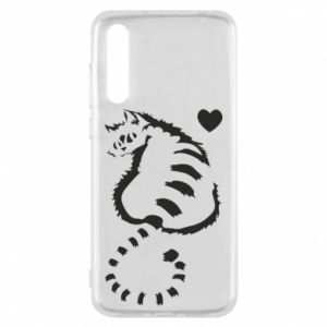 Etui na Huawei P20 Pro Śliczny kot z sercem