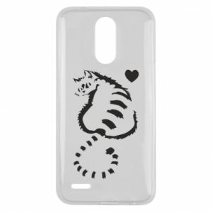 Lg K10 2017 Case Cute cat with a heart