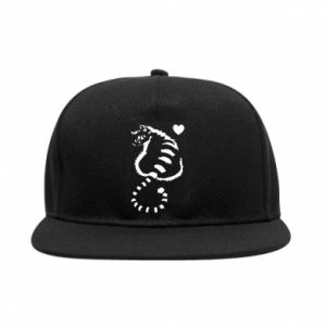 SnapBack Cute cat with a heart
