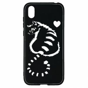 Huawei Y5 2019 Case Cute cat with a heart