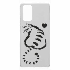 Etui na Samsung Note 20 Śliczny kot z sercem