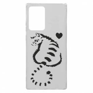 Etui na Samsung Note 20 Ultra Śliczny kot z sercem