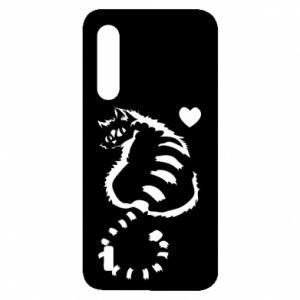 Etui na Xiaomi Mi9 Lite Śliczny kot z sercem