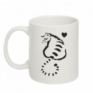 Mug 330ml Cute cat with a heart