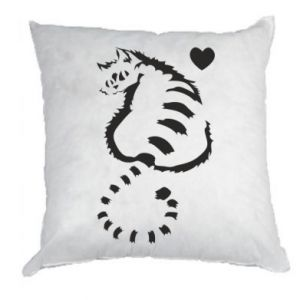 Pillow Cute cat with a heart