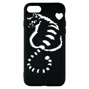 iPhone 8 Case Cute cat with a heart