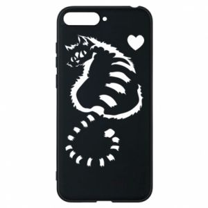 Huawei Y6 2018 Case Cute cat with a heart