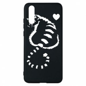 Phone case for Huawei P20 Cute cat with a heart