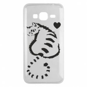 Phone case for Samsung J3 2016 Cute cat with a heart