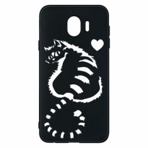 Samsung J4 Case Cute cat with a heart