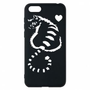 Phone case for Huawei Y5 2018 Cute cat with a heart