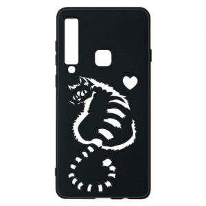 Samsung A9 2018 Case Cute cat with a heart