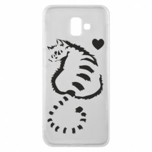 Phone case for Samsung J6 Plus 2018 Cute cat with a heart