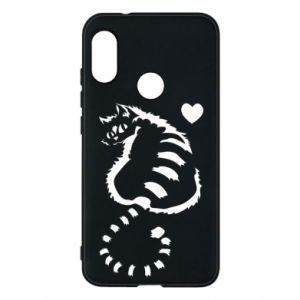 Phone case for Mi A2 Lite Cute cat with a heart