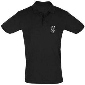 Men's Polo shirt Cute cat with a heart