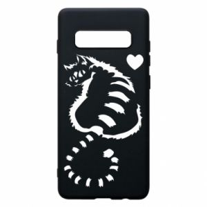 Samsung S10+ Case Cute cat with a heart