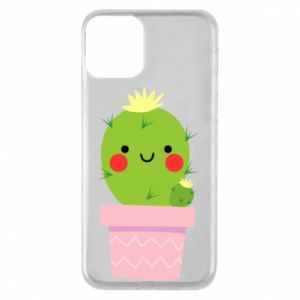 Etui na iPhone 11 Śliczny uśmiechnięty kaktus