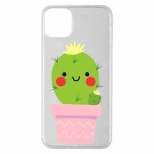 Etui na iPhone 11 Pro Max Śliczny uśmiechnięty kaktus