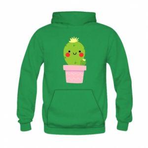 Bluza z kapturem dziecięca Śliczny uśmiechnięty kaktus