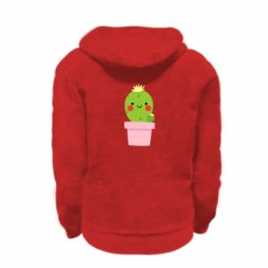 Bluza na zamek dziecięca Śliczny uśmiechnięty kaktus