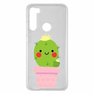 Etui na Xiaomi Redmi Note 8 Śliczny uśmiechnięty kaktus