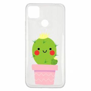 Etui na Xiaomi Redmi 9c Śliczny uśmiechnięty kaktus