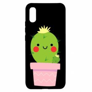 Etui na Xiaomi Redmi 9a Śliczny uśmiechnięty kaktus