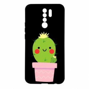 Etui na Xiaomi Redmi 9 Śliczny uśmiechnięty kaktus