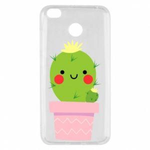 Etui na Xiaomi Redmi 4X Śliczny uśmiechnięty kaktus
