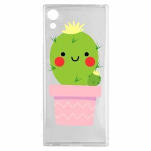 Etui na Sony Xperia XA1 Śliczny uśmiechnięty kaktus