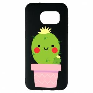 Etui na Samsung S7 EDGE Śliczny uśmiechnięty kaktus