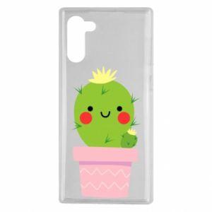 Etui na Samsung Note 10 Śliczny uśmiechnięty kaktus