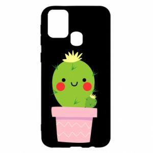 Etui na Samsung M31 Śliczny uśmiechnięty kaktus