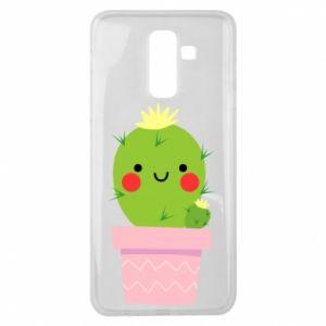 Etui na Samsung J8 2018 Śliczny uśmiechnięty kaktus