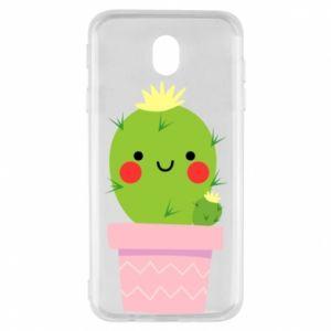 Etui na Samsung J7 2017 Śliczny uśmiechnięty kaktus