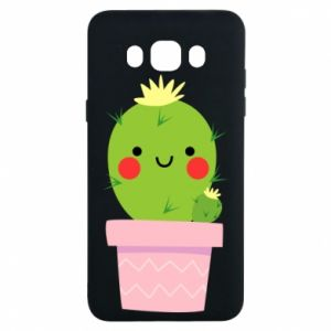 Etui na Samsung J7 2016 Śliczny uśmiechnięty kaktus