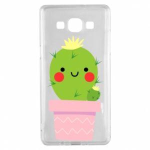 Etui na Samsung A5 2015 Śliczny uśmiechnięty kaktus