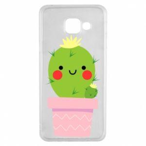 Etui na Samsung A3 2016 Śliczny uśmiechnięty kaktus
