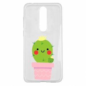 Etui na Nokia 5.1 Plus Śliczny uśmiechnięty kaktus