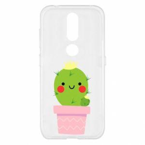 Etui na Nokia 4.2 Śliczny uśmiechnięty kaktus